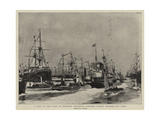 A Visit to the Fleet at Spithead, Excursion Steamers Passing Between the Lines Giclee Print by Charles William Wyllie