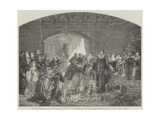 William of Nassau, and the Money-Lenders, from the Gallery of the Late King of Holland Giclee Print by Claude Jacquand