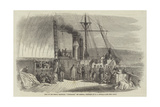 Deck of the French Transport, L'Euphrate, Off Messina Giclee Print by Edward Angelo Goodall