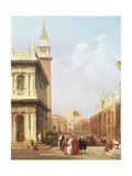 Venice from the Piazzetta Looking Towards Codussi's Clock Tower Giclee Print by Edward Pritchett