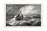 Freshening Gale Scarborough Fishing Boats Returning to Harbour Giclee Print by Edwin Hayes