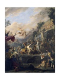 Martyrdom of Saint Lawrence Giclee Print by Domenico Gargiulo