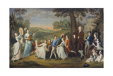 Sir John Halkett and His Family, 1781 Giclee Print by David Allan