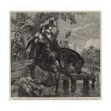 Jane Lane Assisting Charles II to Escape after the Battle of Worcester Giclee Print by Edgar Melville Ward