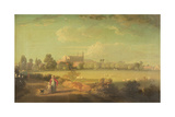 A View of Eton from the Playing Fields Giclee Print by Edmund Bristow