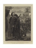 St John Taking the Virgin to His Own Home after the Crucifixion Giclee Print by Edward A. Armitage
