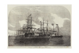 Fleet Forming Line Abreast Giclee Print by Edwin Weedon