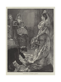 The Drawing-Room, Photographing a Debutante Giclee Print by Edward Frederick Brewtnall