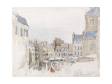 A French Market Place, C.1829 Giclee Print by David Cox