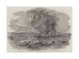 The Explosion of the Right Siege-Train, Near Inkerman Mill Giclee Print by Edward Angelo Goodall