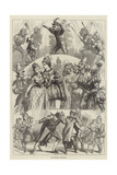 The Christmas Pantomimes Giclee Print by David Henry Friston