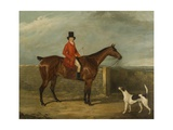 John Hall Kent in Hunting Attire Seated on a Horse, 1825 Giclee Print by David Dalby