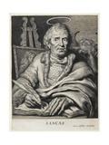 St. Luke Giclee Print by Cornelis Visscher