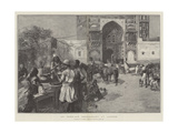 An Open-Air Restaurant at Lahore Giclee Print by Edwin Lord Weeks