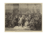 The South Sea Bubble, a Scene in Change-Alley in 1720 Giclee Print by Edgar Melville Ward