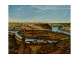 View of Fort Snelling, C.1850 Giclee Print by Edward K. Thomas