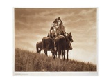 Cheyenne Warriors, 1905, Photogravure by John Andrew and Son (Photogravure) Giclee Print by Edward Sheriff Curtis