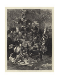 A Foresters' Fete, Under the Greenwood Tree Giclee Print by Edwin Buckman