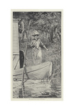 The Strange Adventures of a House-Boat Giclee Print by David Hardy