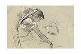 Dancer at Rest; Danseuse Au Repos, 1879 Giclee Print by Edgar Degas