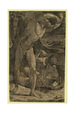 Two Nude Men: One Standing, One Reclining, Between 1500 and 1551 Giclee Print by Domenico Beccafumi