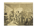 Illustration to 'The Cottar's Saturday Night' by Robert Burns, C.1790 (Grey Wash on Paper) Giclee Print by David Allan