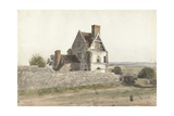 Remains of Parton Hall, Staffordshire, 1820 Giclee Print by Cornelius Varley
