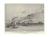A Visit to the Governor of Gibraltar, the Admiralty Boat on Her Way Giclee Print by Eduardo de Martino