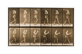 Image Sequence of a Man with a Hat Walking, 'Animal Locomotion' Series, C.1887 Giclee Print by Eadweard Muybridge