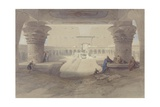 View from under the Portico of the Temple of Edfu Giclee Print by David Roberts