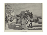 A Fakir's Funeral, India Giclee Print by Edwin Lord Weeks