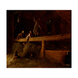 In the Hayloft, C.1878 Giclee Print by Eastman Johnson