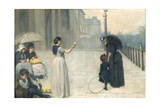 Spring - Piccadilly, 1887 Giclee Print by Edward Clegg Wilkinson