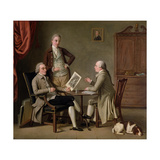 The Connoisseurs, 1783 Giclee Print by David Allan