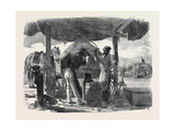 Before Sebastopol, Forge of the Left Siege Train, the Crimean War Giclee Print by Edward Angelo Goodall