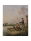 The Young Anglers Giclee Print by Edmund Bristow