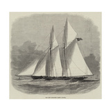 The New Schooner Yacht Livonia Giclee Print by Edwin Weedon