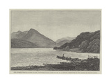 The Queen's Visit to North Wales, Picture of Bala Lake, Presented to the Queen by Welsh Ladies Giclee Print by Edwin Pettitt