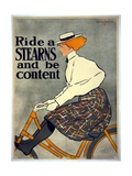 Ride a Stearns and Be Content, C.1896 Giclee Print by Edward Penfield