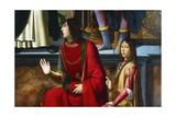 Pandolfo IV Malatesta and Carlo Malatesta Giclee Print by Domenico Ghirlandaio