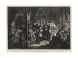 James II Receiving the News of the Landing of the Prince of Orange Giclee Print by Edgar Melville Ward