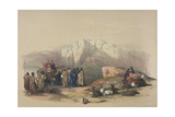 Tomb of Aaron, from 'The Holy Land', Engraved by Louis Haghe (1806-85) Giclee Print by David Roberts