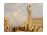 The Piazzetta, Venice Giclee Print by Edward Pritchett