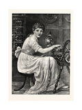 The Spinster from the Picture Giclee Print by Edwin Longsden Long