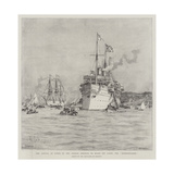 The Arrival at Cowes of the German Emperor on Board His Yacht, the Hohenzollern Giclee Print by Eduardo de Martino