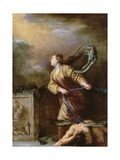 St. Margaret of Cortona Vanquishing the Devil Giclee Print by Domenico Fetti