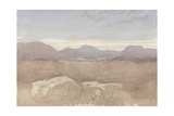 A Mountainous View, North Wales, C.1818 Giclee Print by David Cox