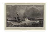 A South-East Gale in the Channel Giclee Print by Edwin Hayes
