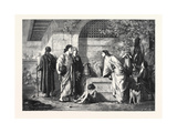 The Parents of Christ Seeking Him. in the Exhibition of the Royal Academy 1866 Giclee Print by Edward Armitage