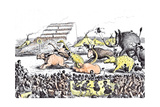 Even the Derby Had its Primeval Counterpart Giclee Print by Edward Tennyson Reed